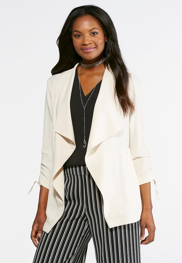 Cato fashions careers - Cinched Draped Jacket Plus