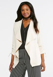 Cinched Draped Jacket-Plus