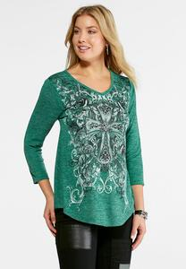 Embellished Cross Hacci Top