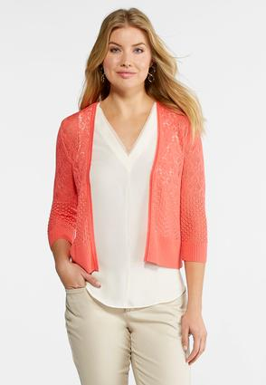 Plus Size Pointelle Sweater Cardigan at Cato in Brooklyn, NY | Tuggl