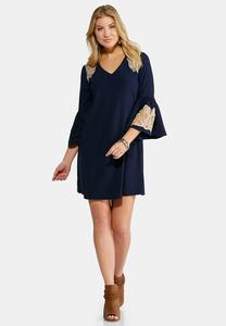 Plus Size Embroidered Swing Dress