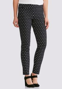 Dotted Bengaline Ankle Pants