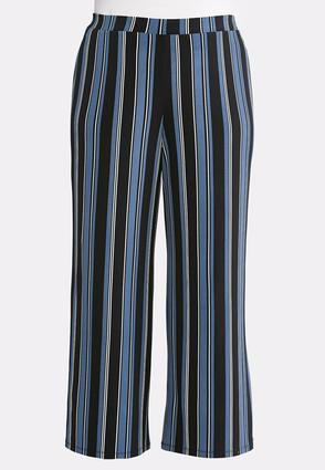 Cape Stripe Palazzo Pants- Plus