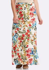 Plus Size Botanical Bliss Maxi Skirt