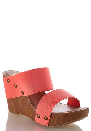 Stretch Band Wedge Sandals at Cato in Mcminnville, TN | Tuggl
