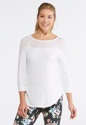 Mixed Media Athleisure Top | Tuggl