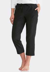 Cropped Stretch Athleisure Pants