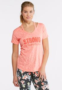 Strong Is Beautiful Tee-Plus