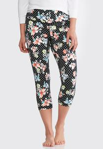Floral Dot Cropped Leggings