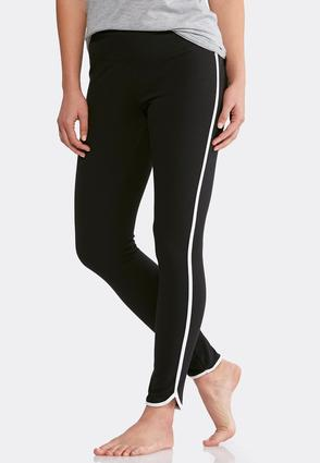 Side Striped Athleisure Leggings