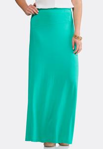Asymmetrical Seamed Maxi Skirt-Plus