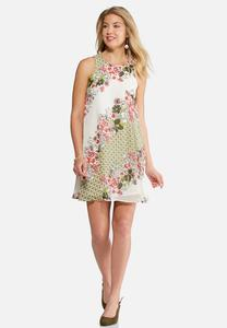 Sleeveless Floral Bliss Swing Dress
