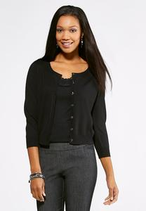 Essential Cropped Cardigan