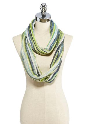 Painted Stripe Infinity Scarf