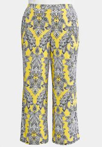 Electric Paisley Palazzo Pants-Plus