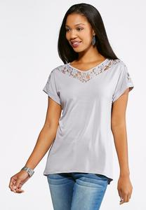 Lace Cuff Sleeve Top