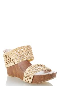Crochet Band Platform Wedges