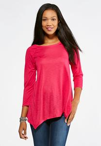 Bright Slub Knit Top- Plus