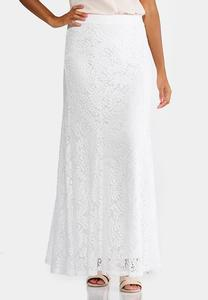 Lace Mermaid Maxi Skirt-Plus