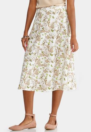 Woodland Bloom A- Line Skirt- Plus