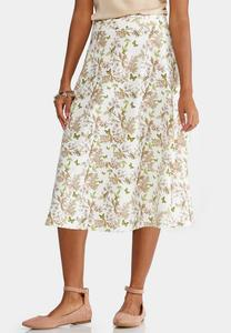 Woodland Bloom A-Line Skirt-Plus
