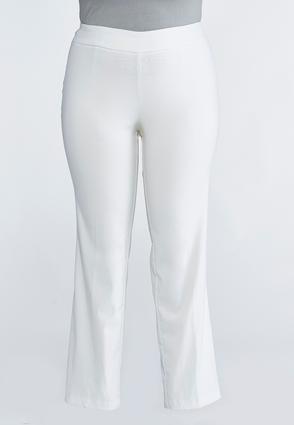 Plus Petite Pull-On Straight Leg Pants | Tuggl