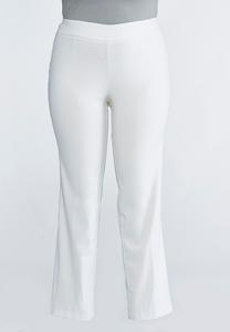 Plus Petite Pull-On Straight Leg Pants