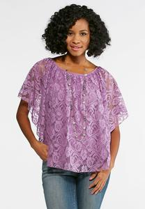 Romantic Lace Capelet Top