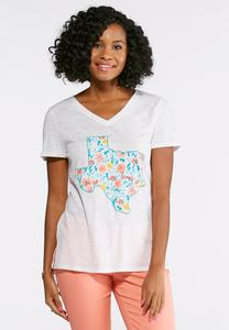 Plus Size Floral Texas Tee