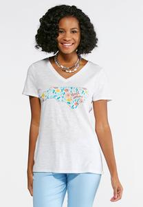 Plus Size Floral North Carolina Tee