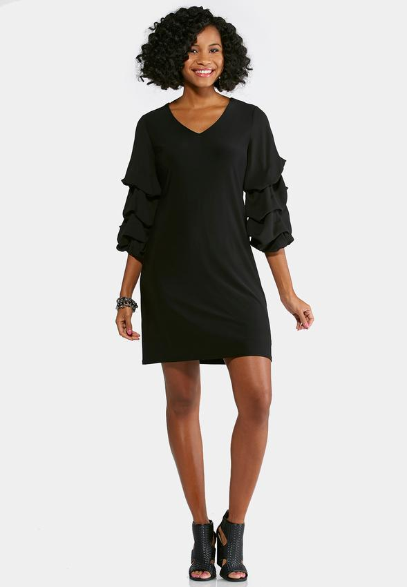 Plus Size Tiered Bubble Sleeve Dress Plus Sizes Cato Fashions