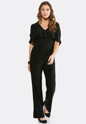 Ruffled Capelet Jumpsuit
