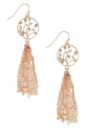 Willow Chain Tassel Earrings