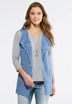 Pointelle Sweater Vest-Plus | Tuggl