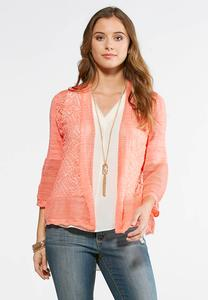 Plus Size Bell Sleeve Cardigan