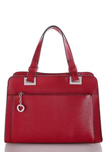Structured Heart Charm Satchel