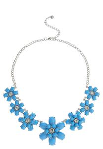 Floral Stone Bib Necklace
