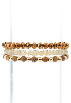 Neutral Stretch Bracelet Set