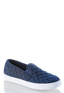 Quilted Denim Sneakers