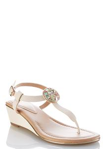 Medallion Wedge Sandals
