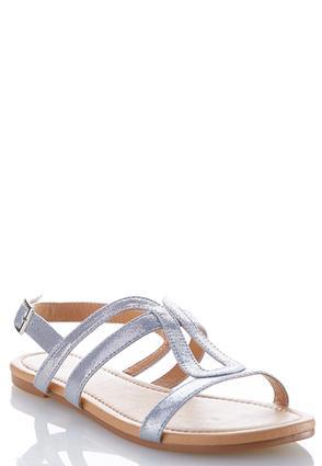 Metallic Slingback Sandals | Tuggl