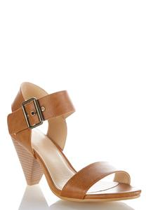 Wide Width Slingback Cone Heeled Sandals
