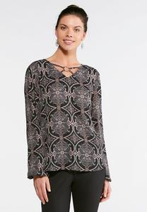 Medallion Paisley Metal Ring Top