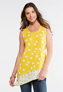 Gold Dotted Tunic Tank