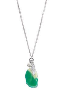 Green Agate Cluster Pendant Necklace