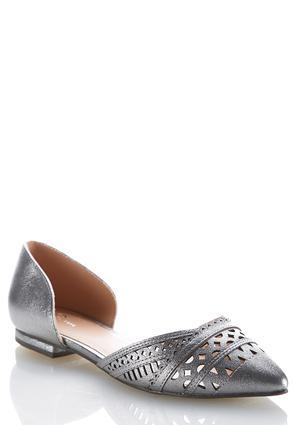 Cutout Pointy Toe Flats | Tuggl