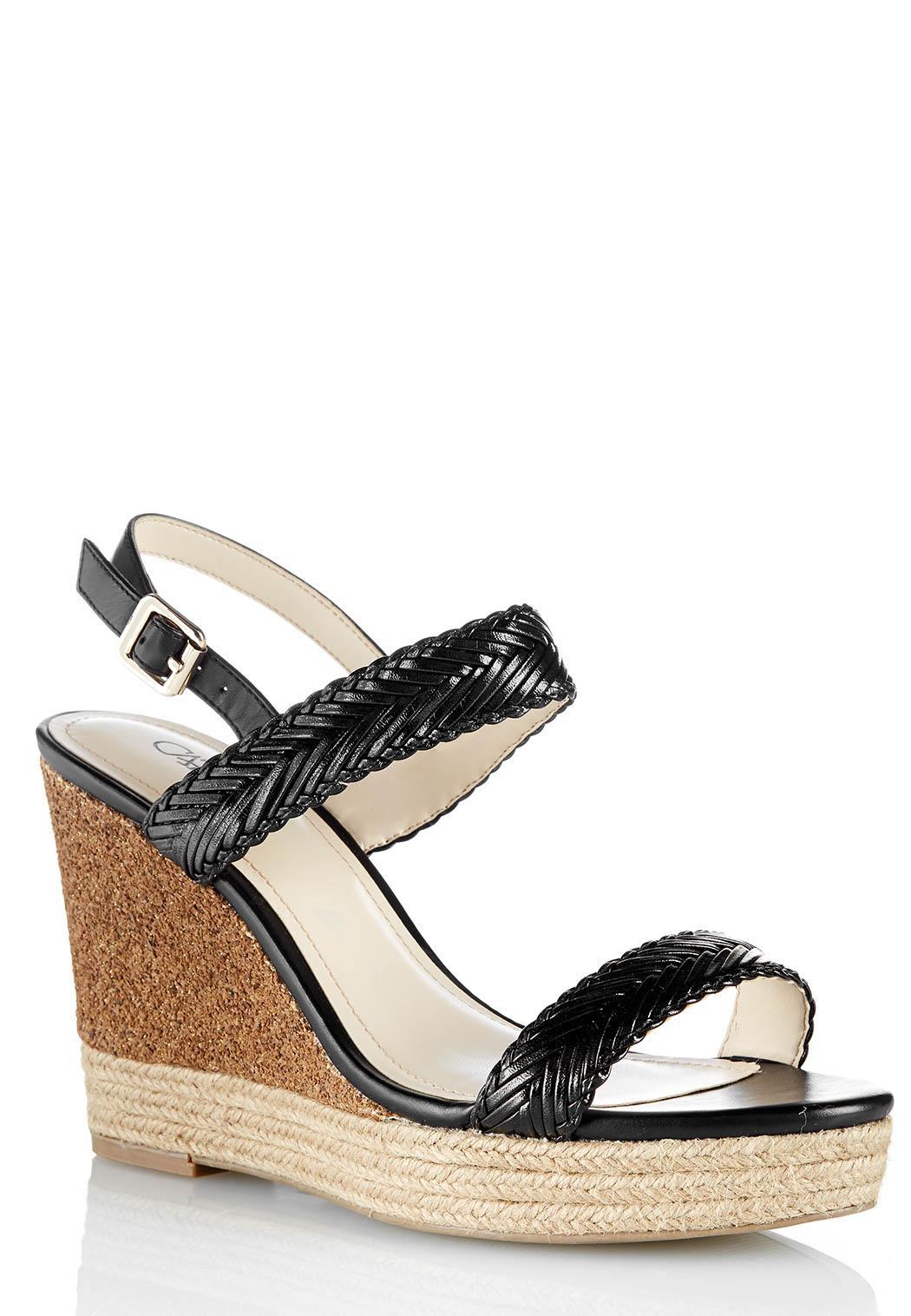 Home D Shoes D Wedges D Woven Glitter Platform Wedges (Style
