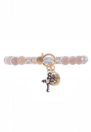Blessed Two- Toned Stretch Bracelet