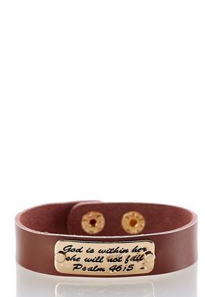 Inspirational Faux Leather Bracelet | Tuggl