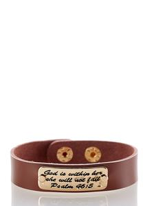 Inspirational Faux Leather Bracelet